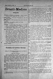[Periódico] O Brazil-Medico : revista semanal de medicina e cirurgia, v. 36, P3, jul-ago, 1922