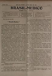 [Periódico] O Brazil-Medico : revista semanal de medicina e cirurgia, v. 41, P2, abr-jun, 1927