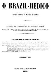 [Periódico] O Brazil-Medico : revista semanal de medicina e cirurgia, v. 9, 1895