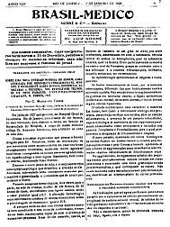 [Periódico] O Brazil-Medico : revista semanal de medicina e cirurgia, v. 42, P1, jan-jun, 1928