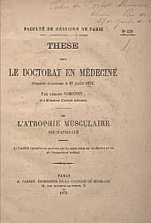 De l'atrophie musculaire : rhumatismale. 1873