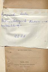 Helminthologische studien und beobachtungen. 1864