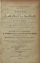 De l'influence pathogénique des épanchements pleuraux sur la circulation intra-cardiaque. 1899
