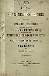 Beitrage zur kenntnis des chinins.1893