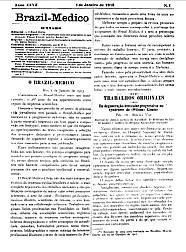 [Periódico] O Brazil-Medico : revista semanal de medicina e cirurgia, v. 27, 1913