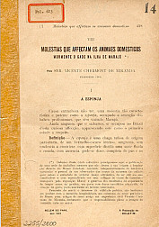 Molestias que affectam os animaes domesticos. 1904