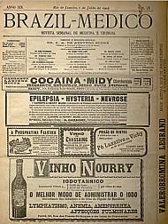 [Periódico] O Brazil-Medico : revista semanal de medicina e cirurgia, v. 19, P2, jul-dez, 1905