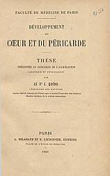 Développement du Coeur et du péricarde.1883