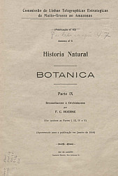 Historia Natural: botânica. Publ. 47 , Vol. 47 Pt. IX [1916]