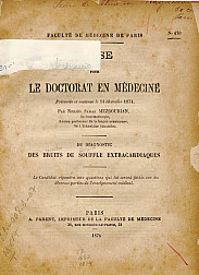 Du diagnostic des bruits de souffle extracardiaques.1874