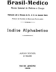 [Periódico] O Brazil-Medico : revista semanal de medicina e cirurgia, v. 40, P2, 1926