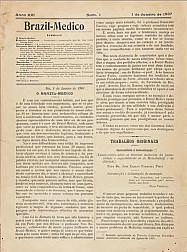 [Periódico] O Brazil-Medico : revista semanal de medicina e cirurgia, v. 21, P1, jan-jun, 1907