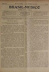 [Periódico] O Brazil-Medico : revista semanal de medicina e cirurgia, v. 41, P4, set-out, 1927