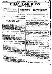 [Periódico] O Brazil-Medico : revista semanal de medicina e cirurgia, v. 43, P1, jan-jun, 1929