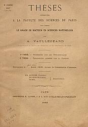 Recherches sur les tétrarhynques. 2re Thèse. -Propositions données par la facultè .1899