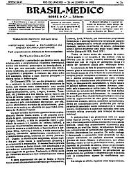 [Periódico] O Brazil-Medico : revista semanal de medicina e cirurgia, v. 46, P1, jan-jun, 1932