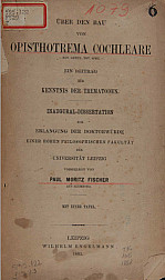 Über den bau von opisthotrema cochleare.1883