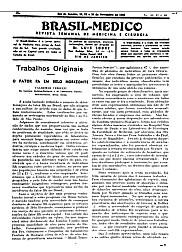 [Periódico] O Brazil-Medico : revista semanal de medicina e cirurgia, v. 60, 1946