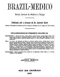 [Periódico] O Brazil-Medico : revista semanal de medicina e cirurgia, v. 26, 1912