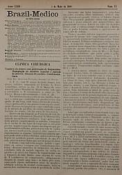 [Periódico] O Brazil-Medico : revista semanal de medicina e cirurgia, v. 23, P2, maio-ago, 1909