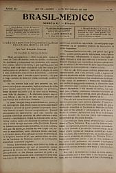 [Periódico] O Brazil-Medico : revista semanal de medicina e cirurgia, v. 41, P5, nov-dez, 1927