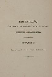 Febre amarella. 1886