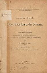 Beitrag zur kenntnis der oligochaetenfauna der Schweiz.1889