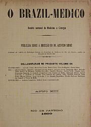 [Periódico] O Brazil-Medico : revista semanal de medicina e cirurgia, v. 13, 1899