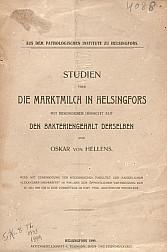 Studien uber die marktmilch in Helsingfors. 1899