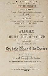 Purgativos Indígenas do Brasil. 1878