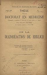 De la diazoréaction de Ehrlich.1898