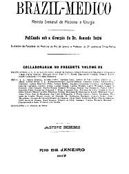 [Periódico] O Brazil-Medico : revista semanal de medicina e cirurgia, v. 31, 1917