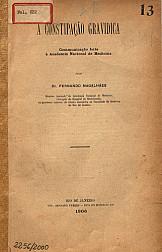 A constipação gravidica. 1906