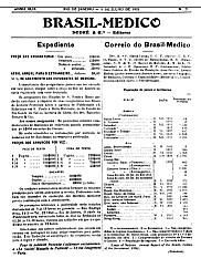 [Periódico] O Brazil-Medico : revista semanal de medicina e cirurgia, v. 49, P2, jul-dez, 1935