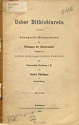 Ueber dithiobiurete.1899