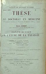 Contribution l'étude de la talalgie.1899
