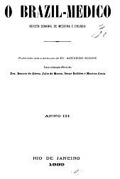 [Periódico] O Brazil-Medico : revista semanal de medicina e cirurgia, v. 3, 1889