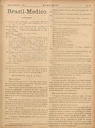 [Periódico] O Brazil-Medico : revista semanal de medicina e cirurgia, v. 38, P2, maio-jun, 1924
