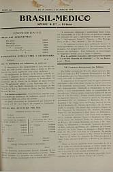 [Periódico] O Brazil-Medico : revista semanal de medicina e cirurgia, v. 52, P3, jul-set, 1938