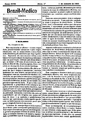 [Periódico] O Brazil-Medico : revista semanal de medicina e cirurgia, v. 18, 1904