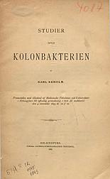 Studier ofver kolonbakterien. 1893