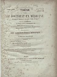 Des Cardiopathies réflexes d'origine brachiale. 1883