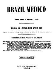 [Periódico] O Brazil-Medico : revista semanal de medicina e cirurgia, v. 16, 1902