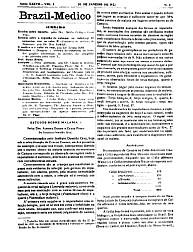 [Periódico] O Brazil-Medico : revista semanal de medicina e cirurgia, v. 37, P1, 1923