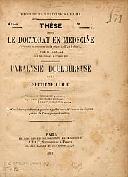 Paralysie douloureuse de la séptieme paire. 1887