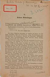 Ueber in Brasilien beobachtete Darmparasiten des Schweines und anderer Haustiere, sowie über das Vorkommen derselben Arten beim Menschen.[ 1885?]
