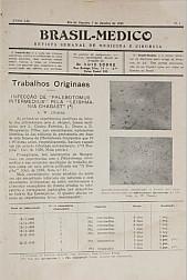 [Periódico] O Brazil-Medico : revista semanal de medicina e cirurgia, v. 53, P1, jan-abr, 1939