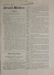 [Periódico] O Brazil-Medico : revista semanal de medicina e cirurgia, v. 35, P3, set-dez, 1921