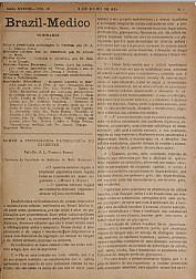 [Periódico] O Brazil-Medico : revista semanal de medicina e cirurgia, v. 38, P3, jul-set, 1924