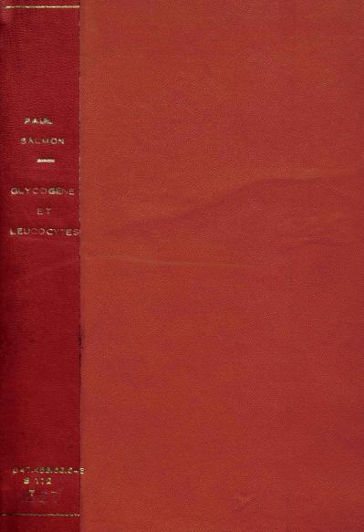 Glycogène et leucocytes.1899